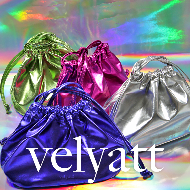 [VELYATT] Glossy Metallic Bucket Bag