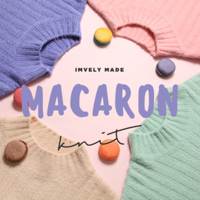 Macaron-Colored Knit Sweater