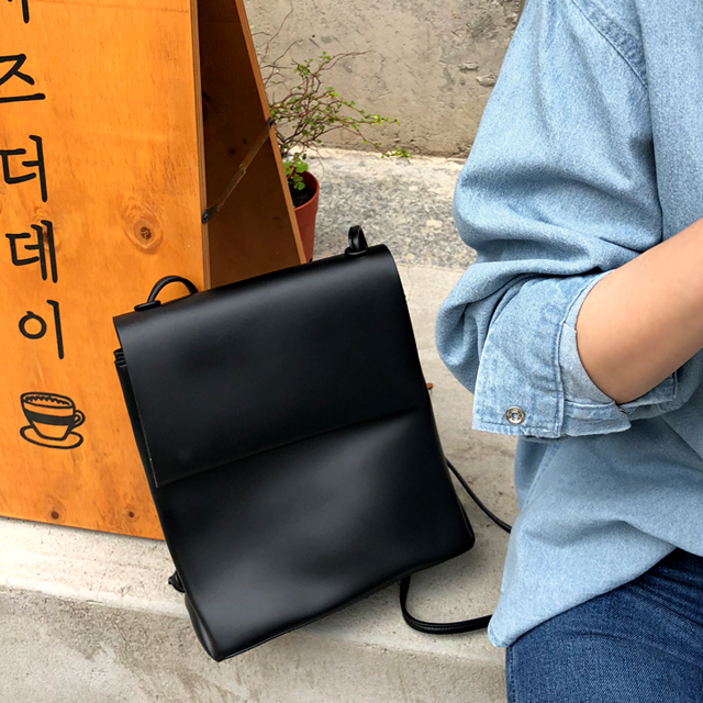Two-Way Carry Leatherette Bag
