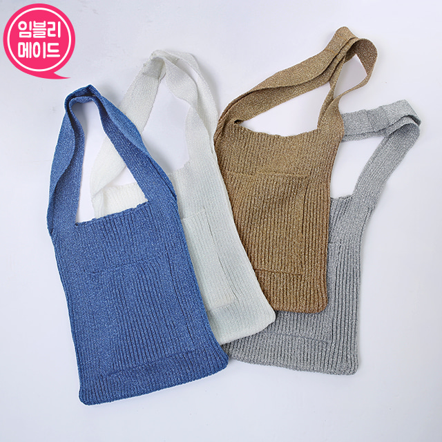 Patch Pocket Knit Bag