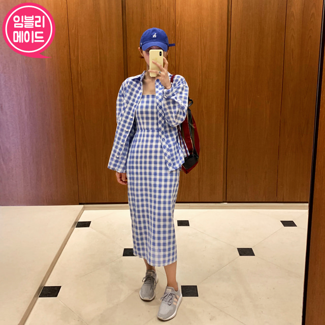 Checkered Shirt and Dress Set