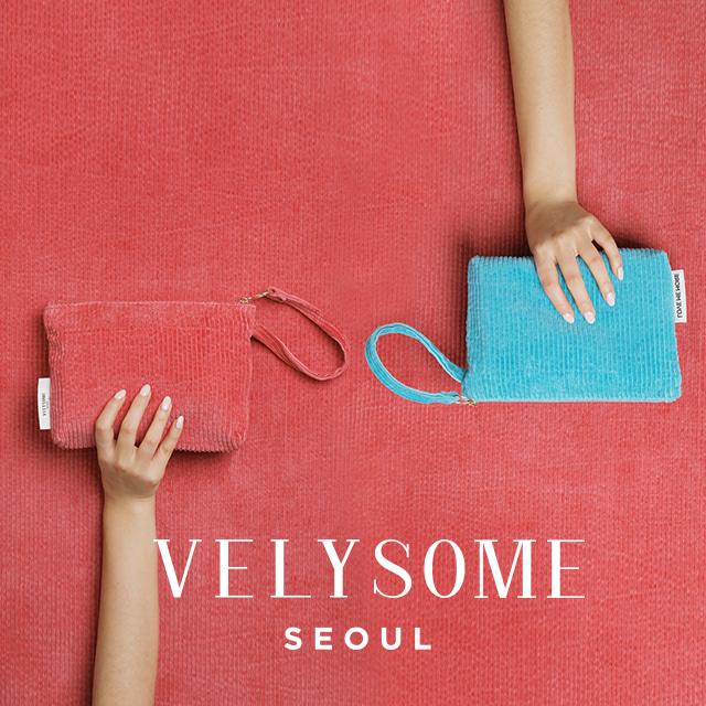 [VELYSOME] Corduroy Pouch Bag