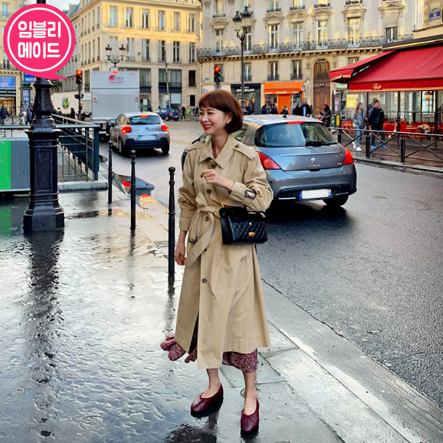 Beige Tone Single-Breasted Trench Coat