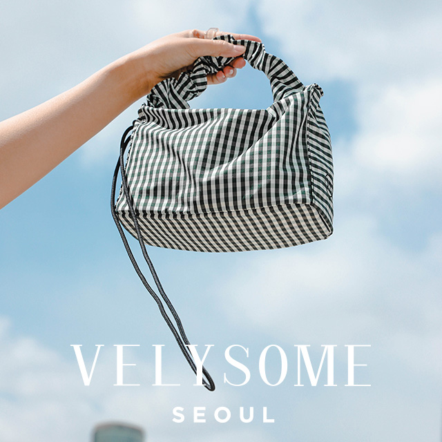 [VELYSOME] Drawstring Strap Tote Bag