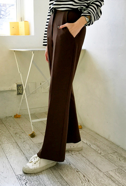 High Waist Loose Fit Slacks