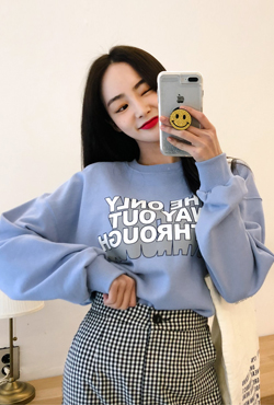 Statement Print Crew Neck Sweatshirt
