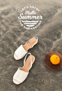 [SUMMER VELY] Woven Upper Slingback Sandals