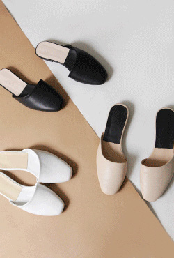 Low-Heeled Mule Slides