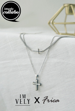 [IMVELY X IMFRICA] Cross Pendant Necklace