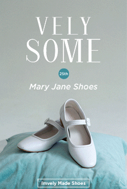 [VELYSOME] No,25 White Mary Jane Flat Shoes