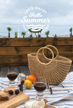 [SUMMER VELY] Ring Handle Woven Straw Bag