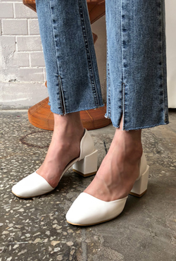 Square Toe D'Orsay Pumps