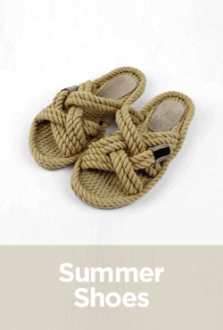 Crisscross Rope Strap Slippers