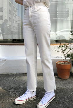 Contrast Stitched Straight Cut Pants