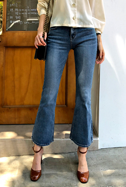 Whisker Wash Bootcut Jeans
