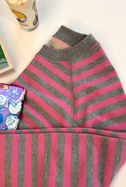 Striped Raglan Sleeve Sweatshirt