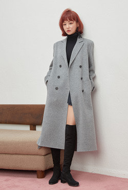 [PREMIUM WOOLMARK BLEND] Handmade Double-Breasted Classic Coat