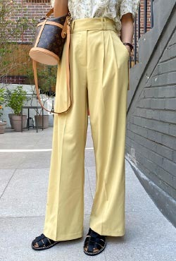 Semi Elasticated Wide Leg Slacks