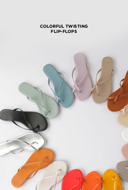 Slim Cross Strap Flip Flops