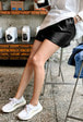 Pull-On Pleather Shorts