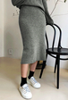 Back Vent Knit Skirt