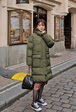 Snap-Buttoned Side Puffer Parka